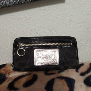 Black coach wallet barely used